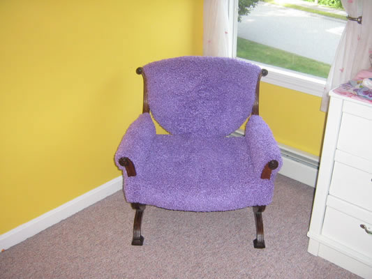 Upholstered Bedroom Chair