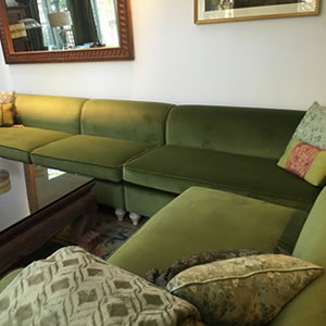 reupholstered sectional