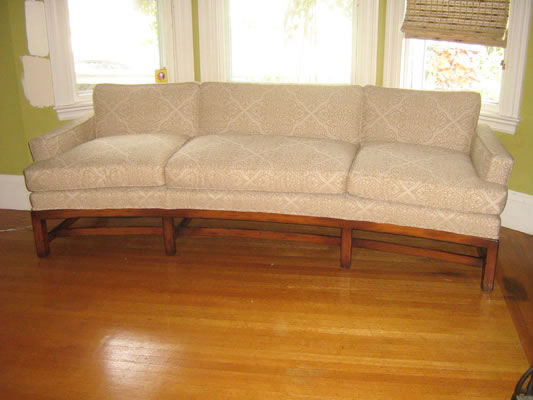Upholstered Kidney Sofa