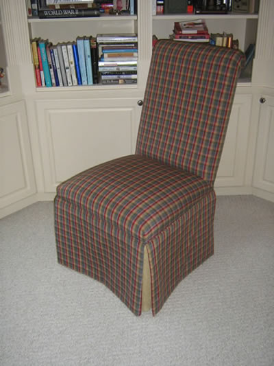 Upholstered parsons chair