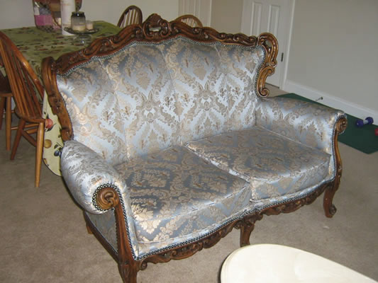 Custom Upholstered Antique Sofa