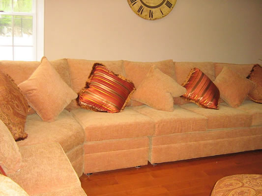 Custom Upholstereed Sectional Sofa